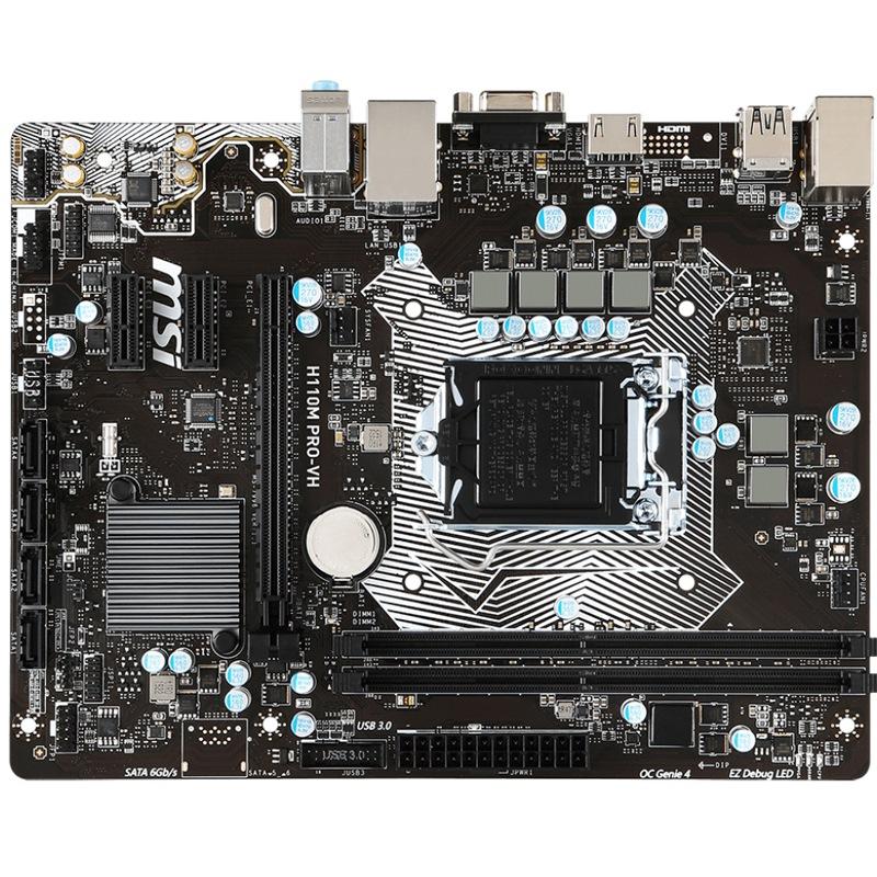 JD Коллекция H110M продажи малого офиса доска дефолт msi h110m pro vd original used desktop motherboard h110 socket lga 1151 i3 i5 i7 ddr4 32g sata3 micro atx