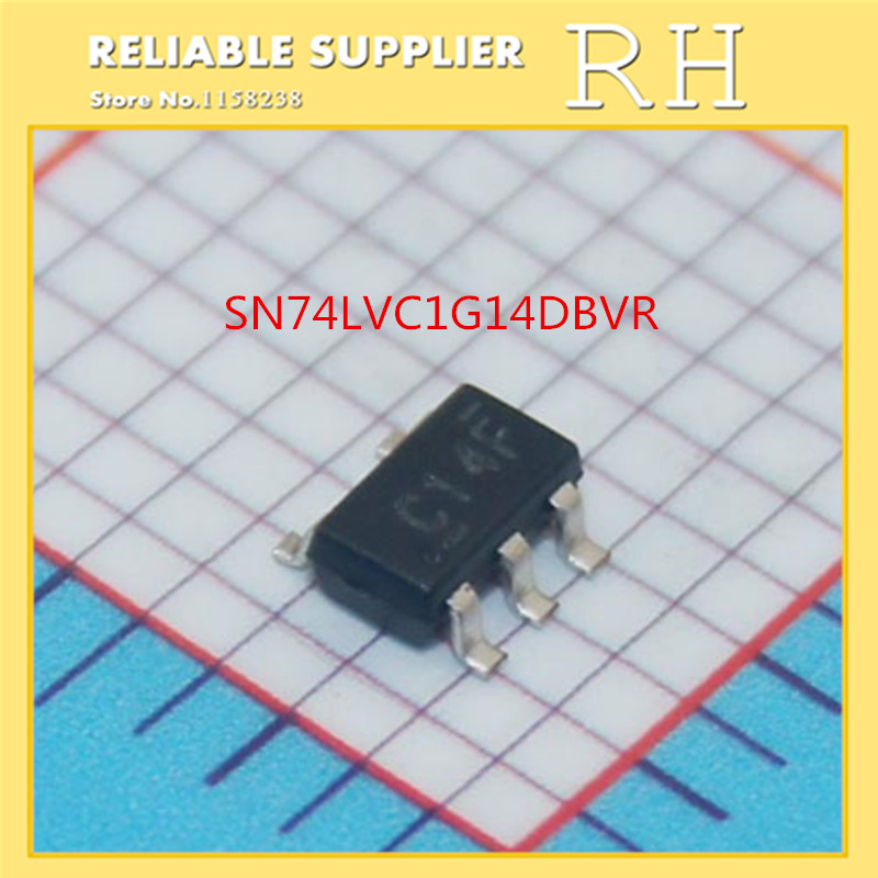 IC 200pcs lot sn74lvc1g14dbvr c14f sot23 5 single schmitt trigger inverter