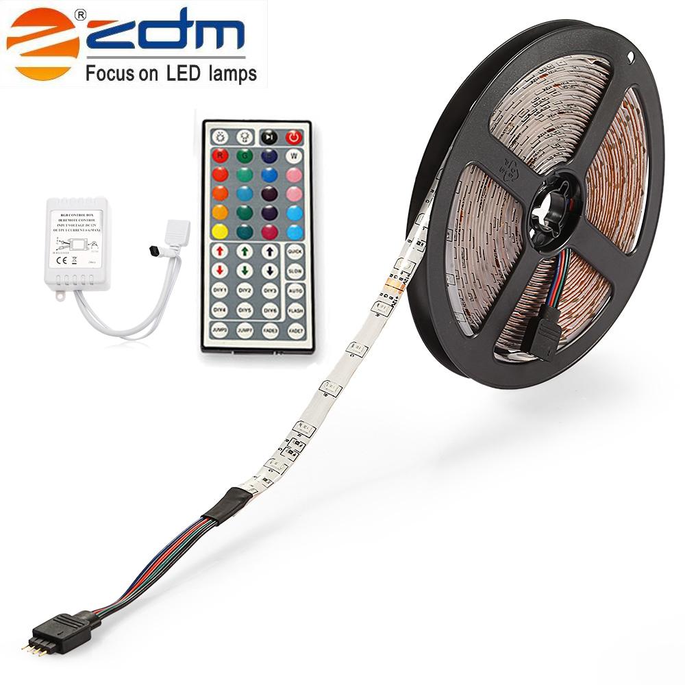 GBTIGER белый led strip color changing 5m 5050 rgbw led light strip remote controller 12v 2a power supply rgb white indoor for decoration