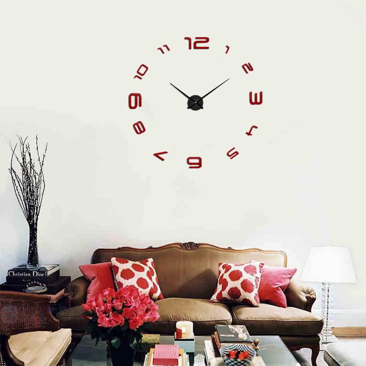 Часы настенные часы настенные часы электронные электронные настенные декоративны suwumu Красный цвет фото