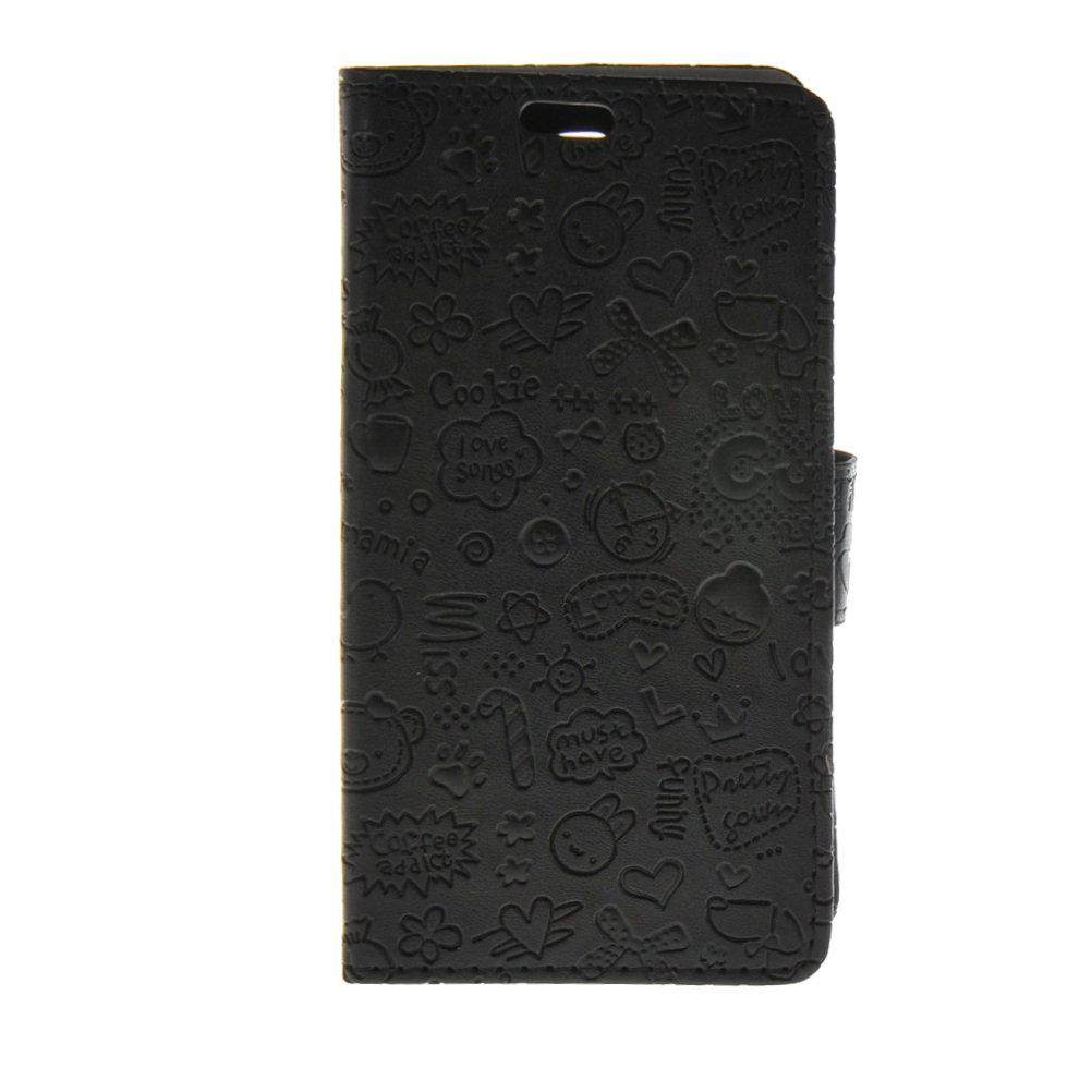MOONCASE mooncase cute little witch leather side flip wallet card holder stand pouch чехол для lg magna black