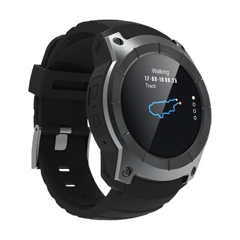 9Tong Чёрный цвет outdoor gps barometer thermometer men watch bluetooth smart watch blood pressure heart rate monitor sport smart digital watches