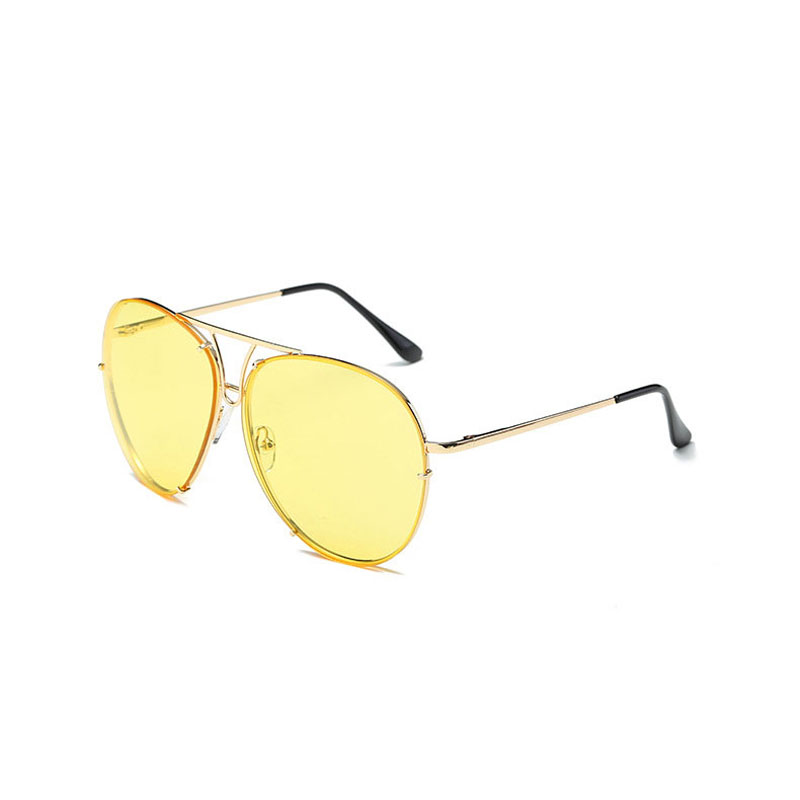 LIKEU S NO11 Gold & Yellow oreka 3025 uv400 protection night vision polarized driving glasses silver yellow