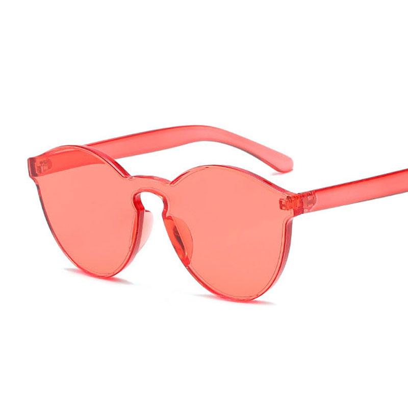 LIKEU S NO4 Красный Круглый солнцезащитные очки для девочек colorexclusive sungl 001