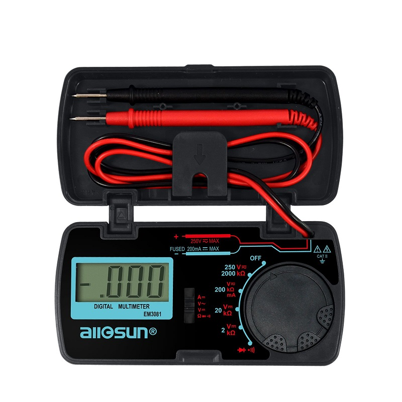 all-sun 5 in 1 digital multimeter sound level humidity luminosity temperature lcd ac dc multimeter volt amp ohm tester em5510 all sun