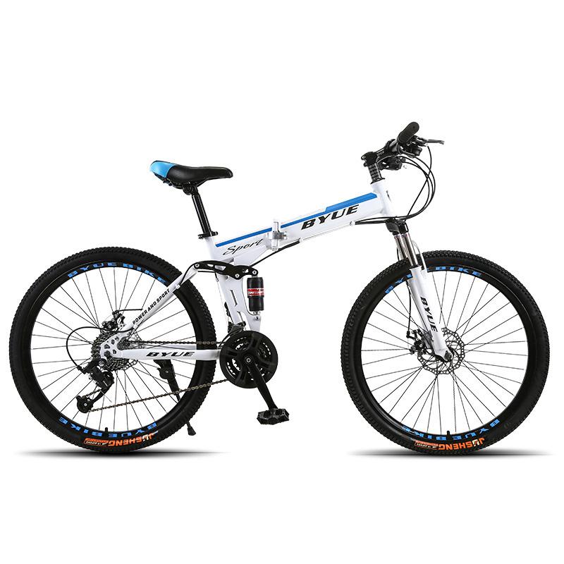 BYUEBIKE спицы колеса Принн цвет 21 скорость behee 26 дюймы 21 скорость складной горный велосипед средняя ось двойной дисковый тормоз