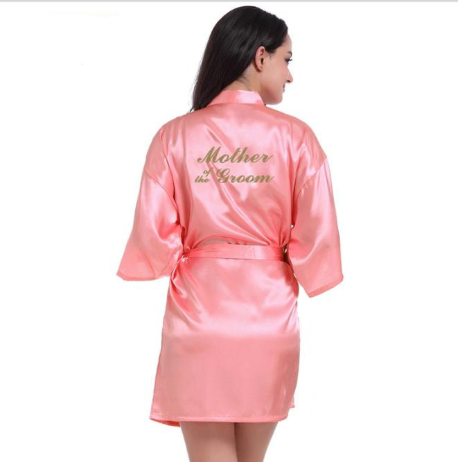 Рубашка Свадебный шелковый атлас Халат Халат Халат Новый oye Красный арбуз L фото