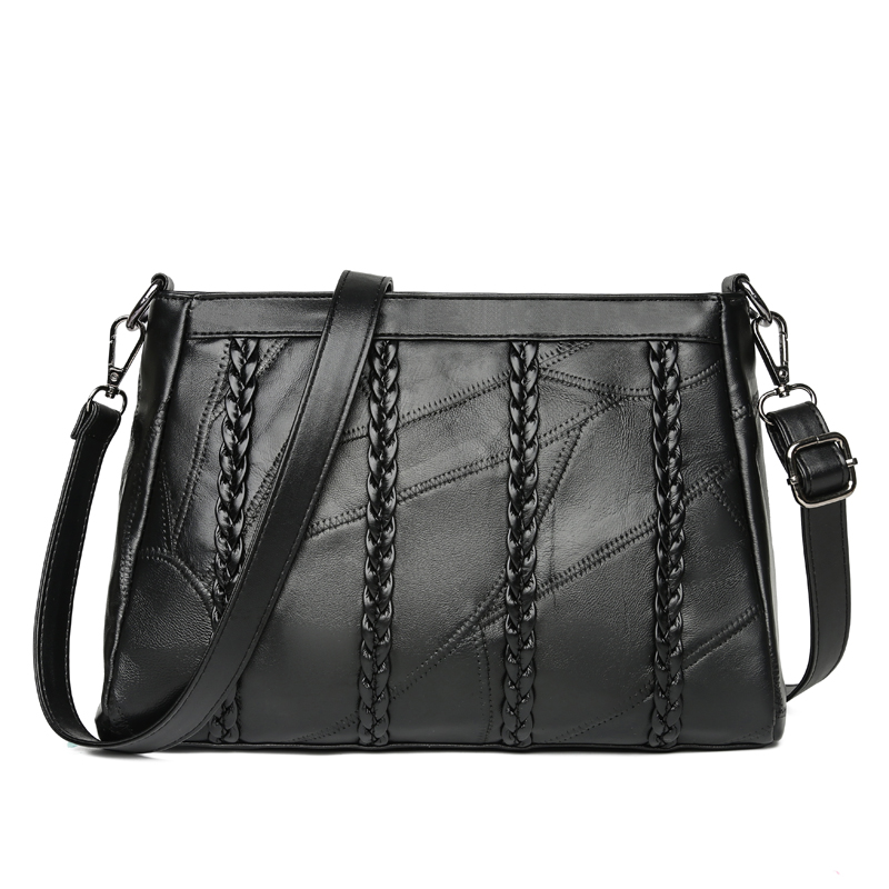 wusetu Черный C S marino женщина lingge цепи плечо сумка пакет милая леди элегантный черный
