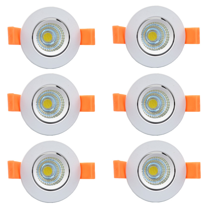 beeled LED new dimmable recessed led downlight cob 5w 7w 9w 12w dimming led spot light led ceiling lamp ac 110v 220v free shipping