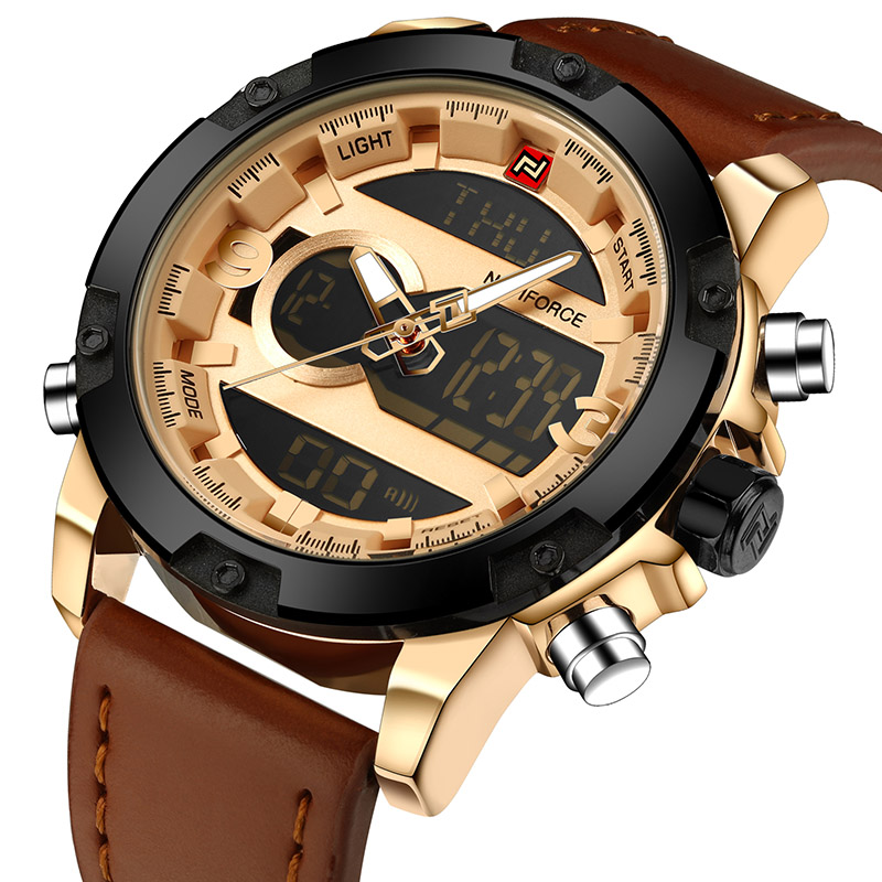 NAVIFORCE светло-коричневый mne watch naviforce 2015 naviforce relogio watches n 9022