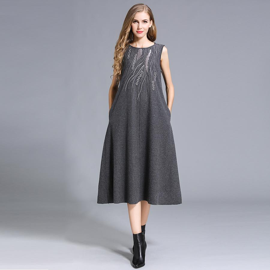 QEJIN Светло-серый XXL женская одежда из шерсти xxl y520