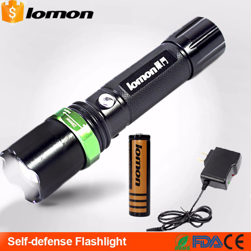 lomon Черный 200m-500m 4000 lumens super bright 4 x cree xml t6 led flashlight torch 4000lm 18650 waterproof led flash light self defense