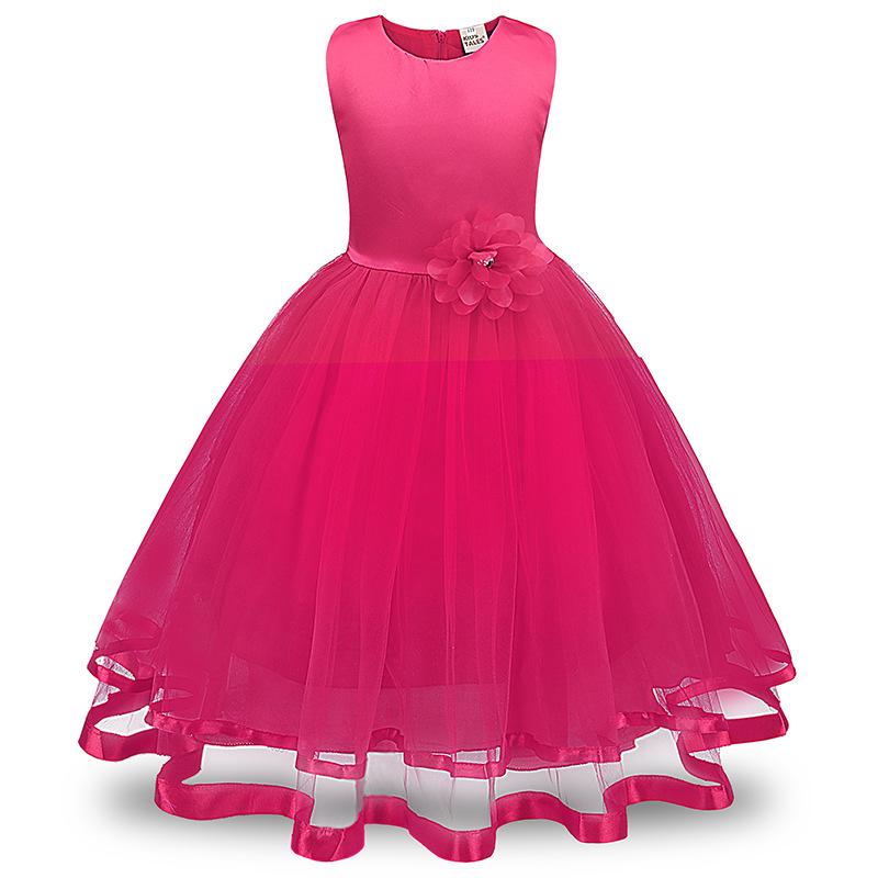Розоловый цвет 130 платья для девочек