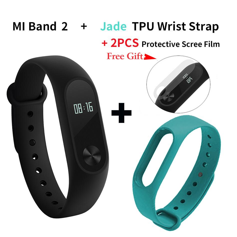 Mi Band Film Jade Strap Смарт-браслет [официальная глобальная версия] оригинальный xiaomi mi band 2 oled вызов сердечного ритма напомнить ip67 водонепроницаемый смарт браслет для android