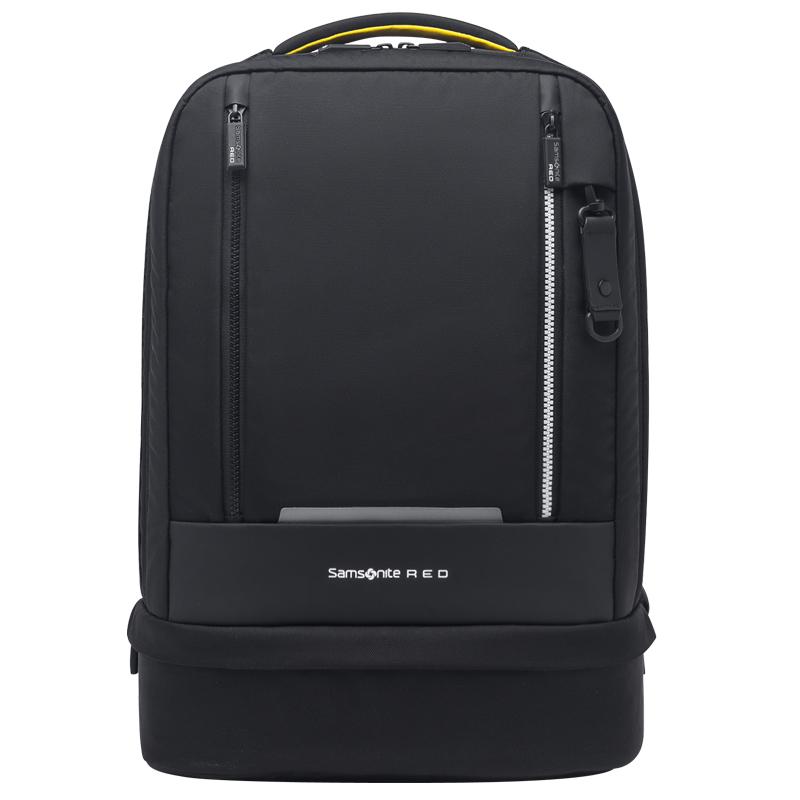 JD Коллекция черный большой samsonite samsonite плечо сумка 2016 новый мужской парный рюкзак компьютер мешок 14 дюймов i33 64001 сине зеленый зеленый