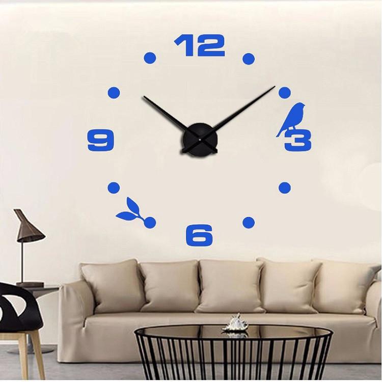 Часы настенные часы настенные часы электронные электронные настенные декоративны suwumu Синий цвет фото