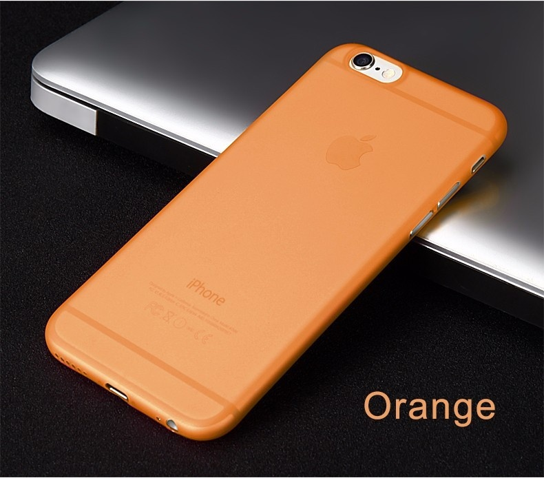 KYKEO Orange iphone 7Plus 0 3mm ultra thin matte frosted protective pp back case for iphone 6 plus grey translucent