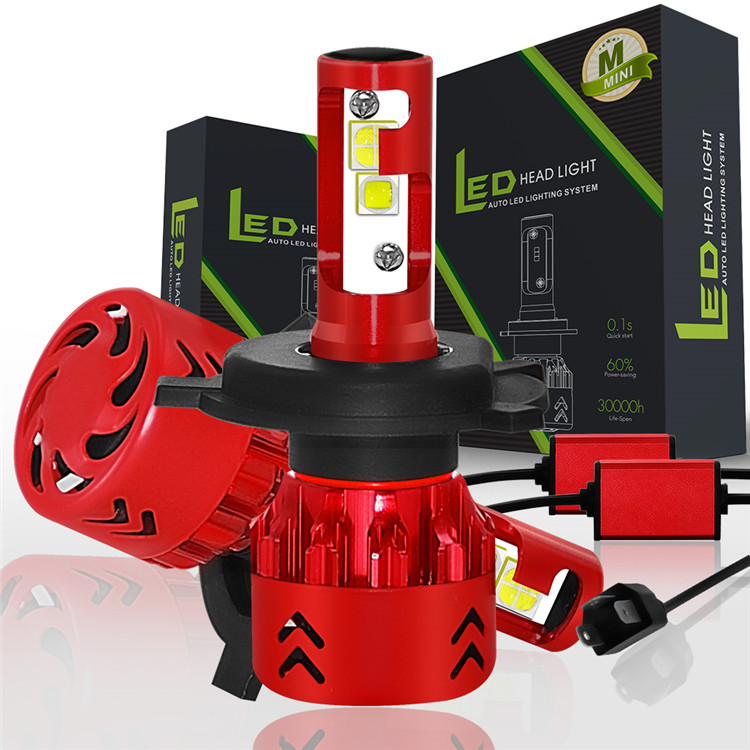 XIAO-Glittering 9006 1 pair h4 led h7 h11 h1 h3 9005 hb3 9006 hb4 led car light h8 h9 auto bulb headlight 6000k