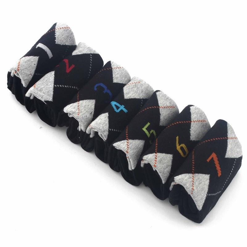 MyMei Черный цвет Равномерные ярды носки 7 пар quelle h i s 443478