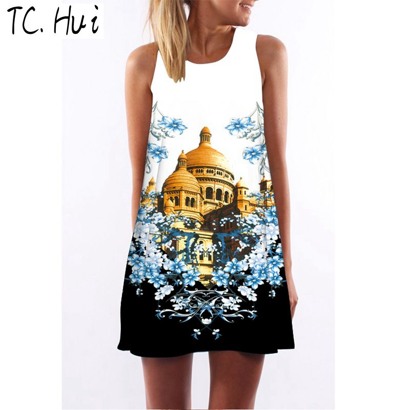 TCHui L 2015 году лето новый корейский моды сумка бедра платье водолазку t шаблон себя которую весны женщин платья тонкий