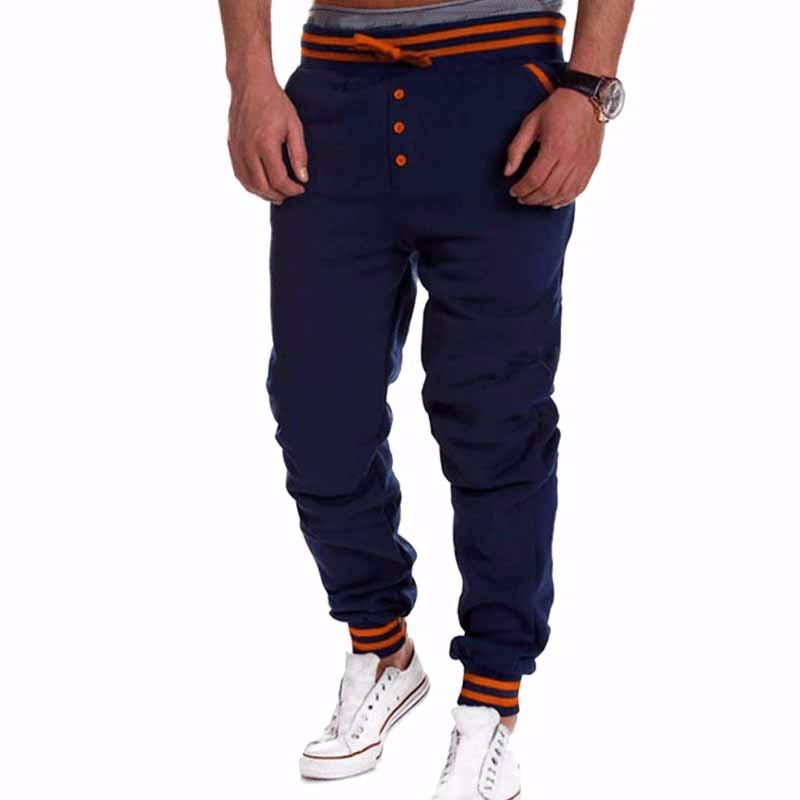 Мужская мода Твердые цветные штаны Спорта на открытом воздухе Случайные штаны-штаны-штаны Xuanxuan diary Темно-синий L фото