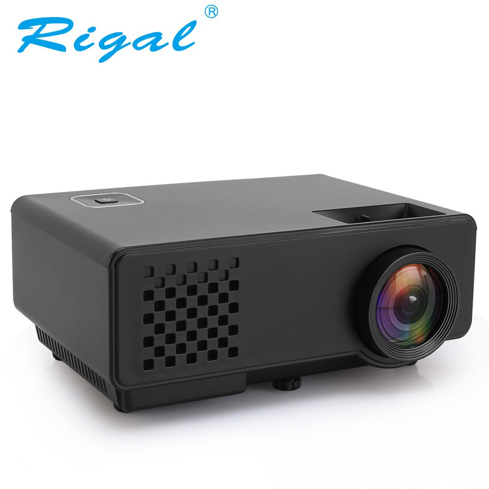 Rigal черный 1200lumens gp70 mini projector portable proyector led beamer home theatre 3d movie game video tv with hdmi vga usb better uc46