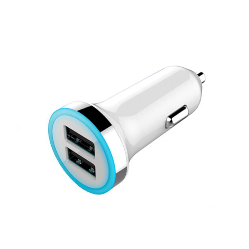 Адаптер зарядка быстрая зарядка usb зарядное устройство автомобильная зарядка Белый цвет фото