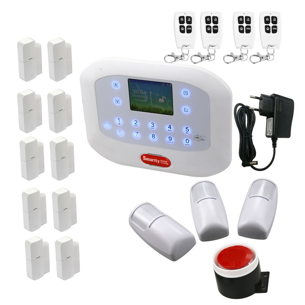 DYGSM Alarm System yobangsecurity touch keypad wifi gsm gprs rfid alarm home burglar security alarm system android ios app control wireless siren