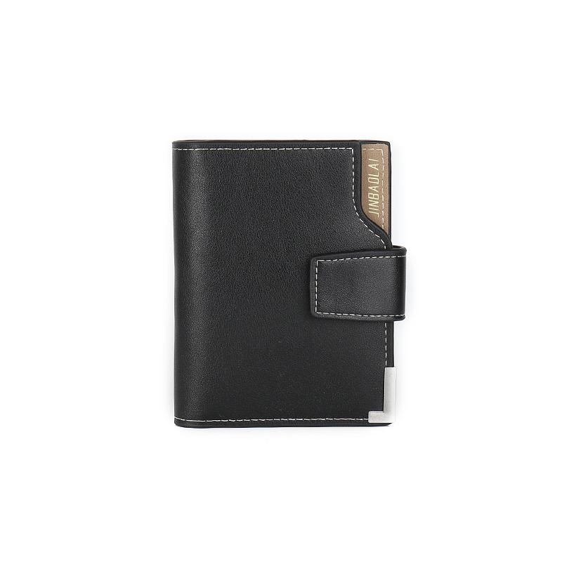 Кошелек Кошелек для мужчин Кошелек Маленький кошелек для кредитной карты JINBAOLAI черный фото
