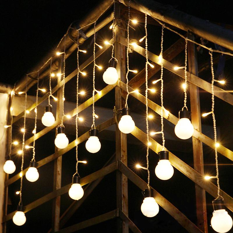 JULELYS White белый julelys 7m 28 лампы гирлянды светодиодные огни украшение для свадьбы рождество gerlyanda festoon led ball string lights home room decor