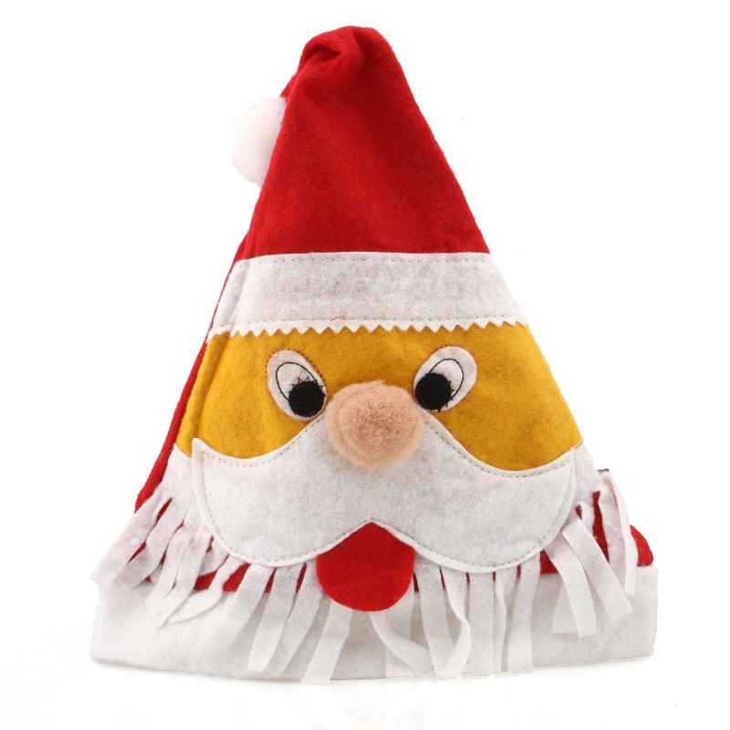 MyMei santa claus hat chair back cover for christmas dinner decoration cap