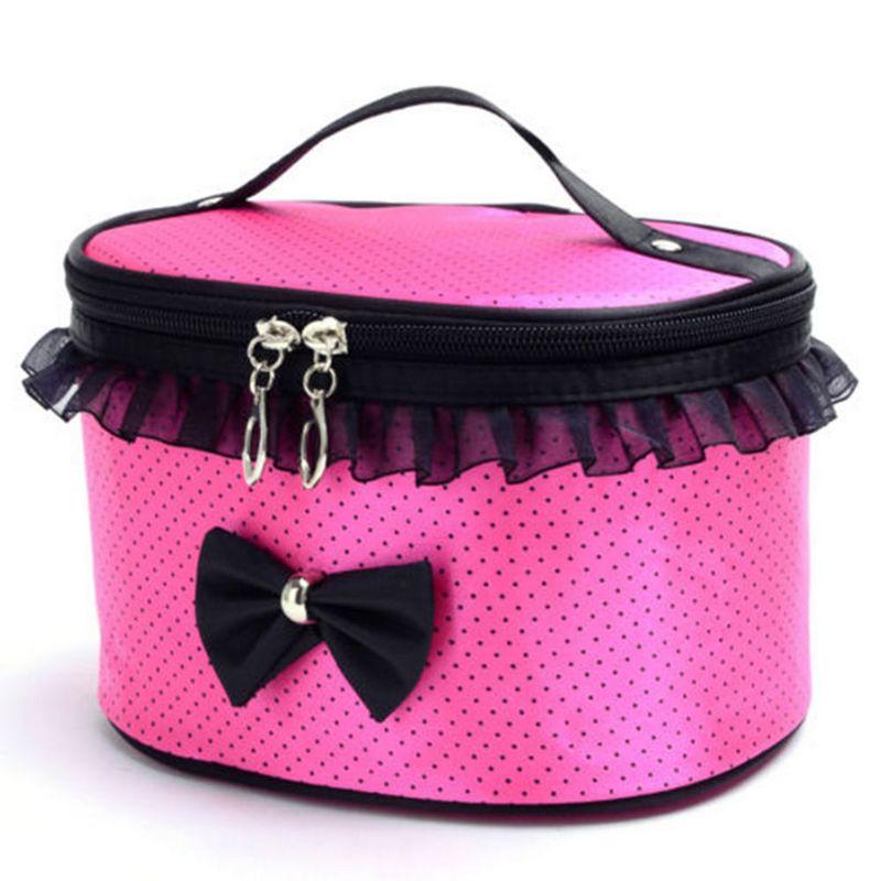 MyMei Пурпурный розовой красный цвет женская сумка организатор поездки функцию хранения дело по телефону косметические нуждается в темно красный