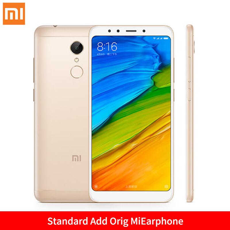 Mi Стандартное золото Добавить Orig MiEarphone Стандарт ЕС глобальная версия xiaomi redmi 5 3gb 32gb смартфон 18 9 полный экран 5 7 hd дисплей snapdragon 450 octa core 12mp камера miui 9