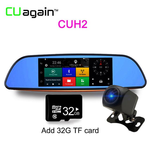 CUH232G 1080p relaxgo 5 android touch car dvr gps navigation rearview mirror car camera dual lens wifi dash cam full hd 1080p video recorder