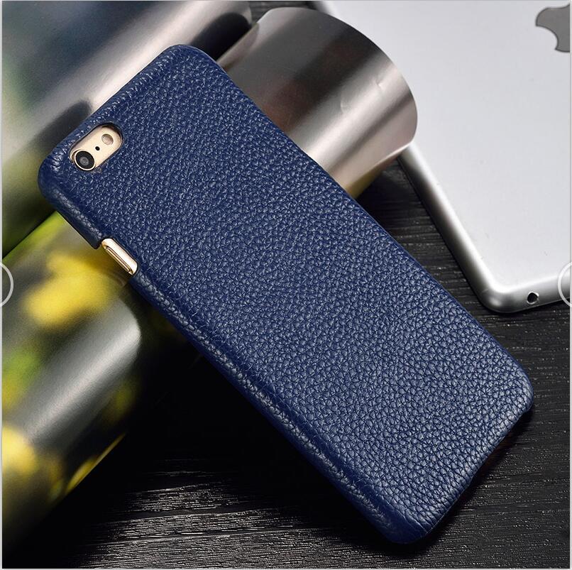 langsidi синий iPhone 6 6s Plus чехол из натуральной кожи для iphone 6 6s plus case litchi texture back cover для iphone 6 7 8 plus x case