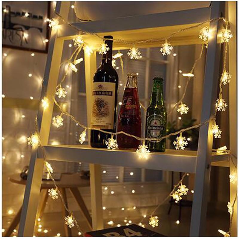 LUOMU Теплый белый 20 M 200 LED EU Plug usb 5m 50leds silver wire strip lights fairy christmas holiday wedding party 1pc