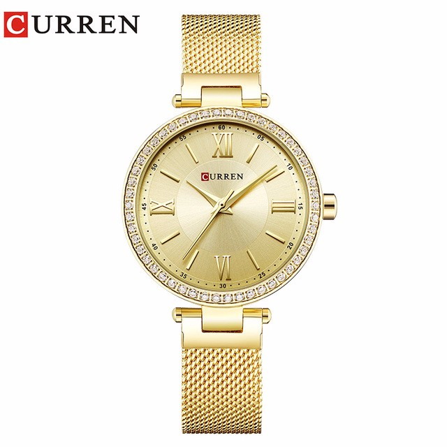 Фото - CURREN 03 guanqin gq17001 watches women luxury lady quartz watch ladies fashion casual clock ceramic bracelet wristwatch relogio feminino
