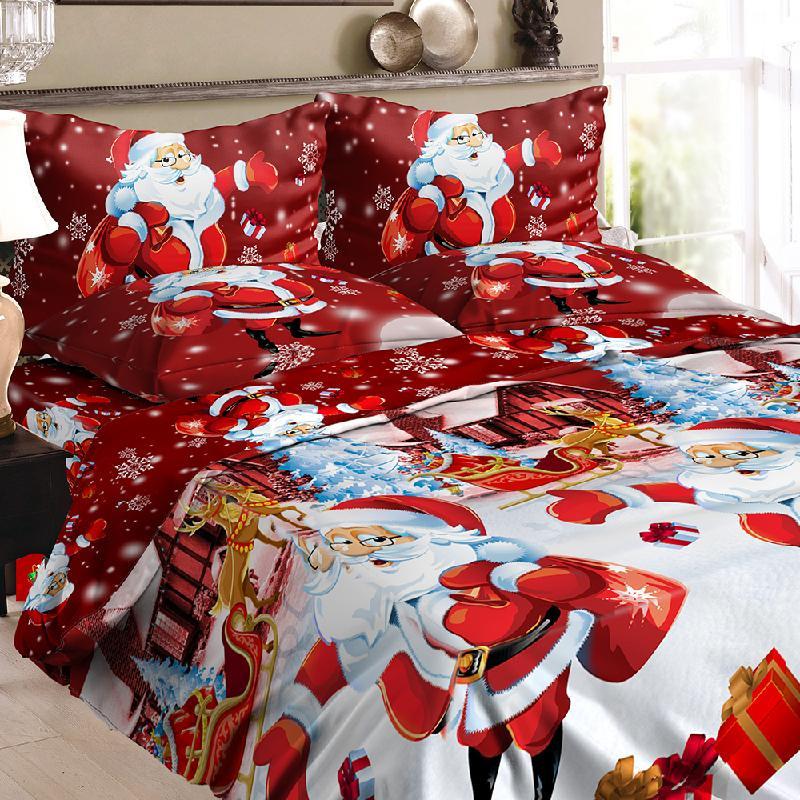 Набор для рождественских постельных принадлежностей dodocool Pоза красная фото