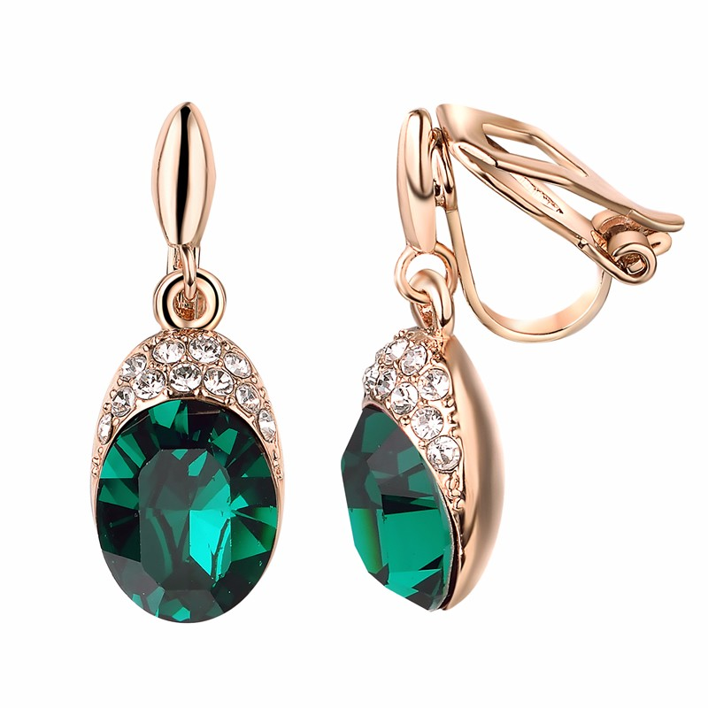 yoursfs Темно-зеленый yoursfs leverback earrings 18k white rose gold plated fashion jewelry women square crystal dangle drop earrings