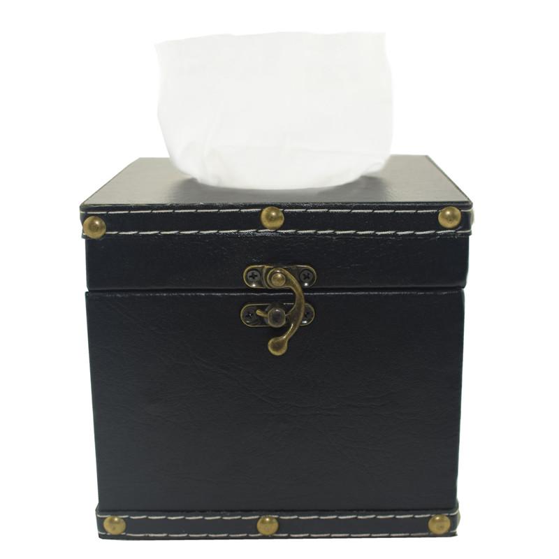 TOSJC Чёрный цвет Северная Европа IKEA деревянный ящик ящик покрытия держатель ткани ретро ткань дело для салфеток