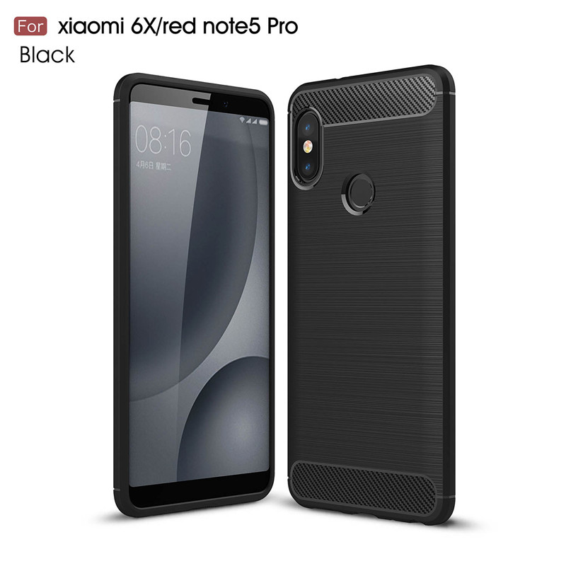 KYKEO Черный Xiaomi redmi note5pro for xiaomi red rice note5 pro black matte tpu phone case