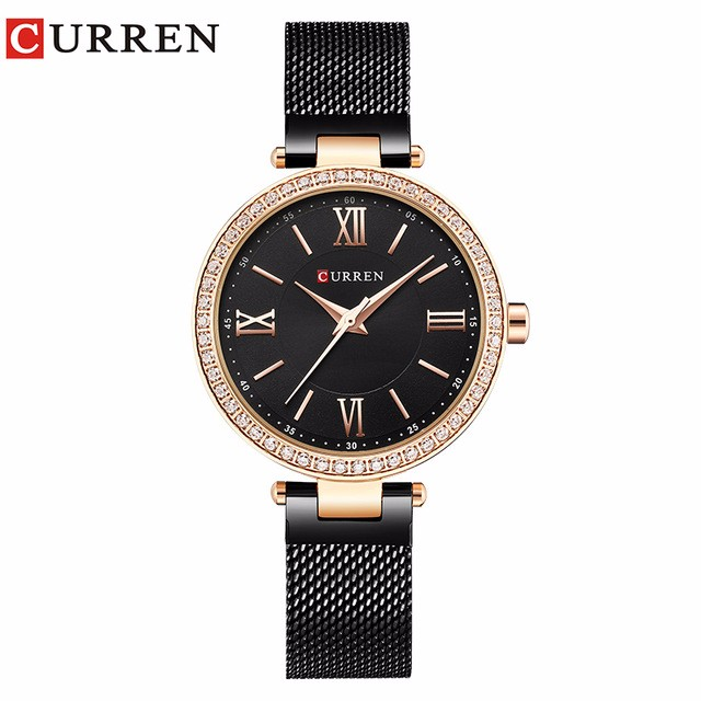 CURREN 06 guanqin gq17001 watches women luxury lady quartz watch ladies fashion casual clock ceramic bracelet wristwatch relogio feminino