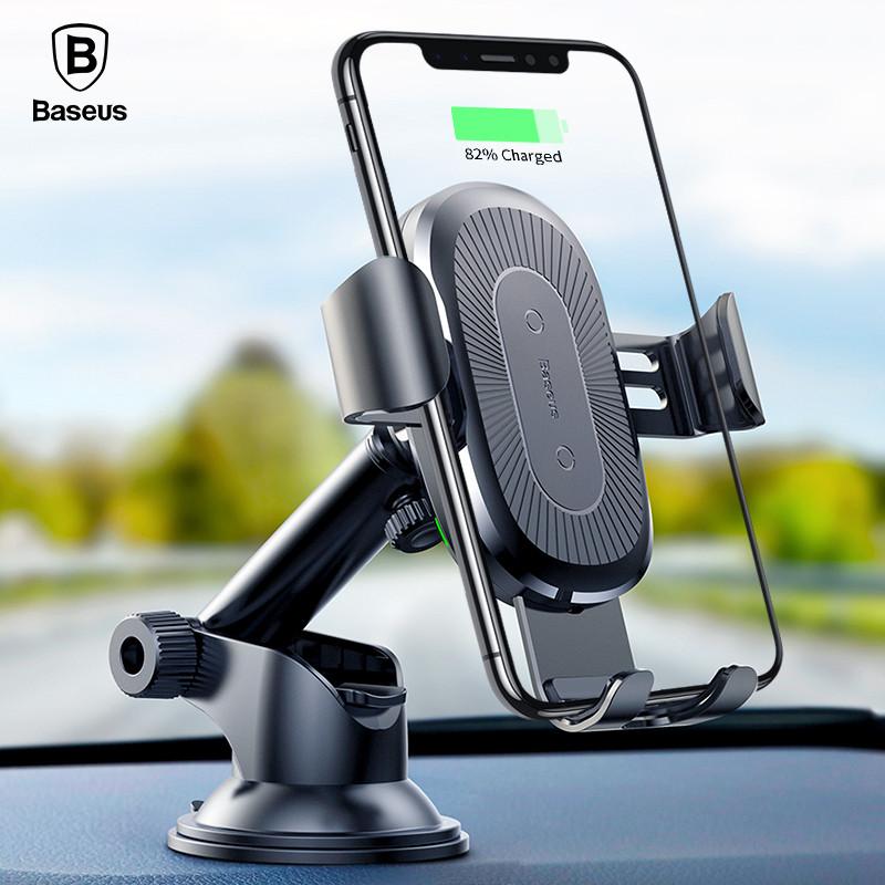 Baseus Черный 85 cm universal qi wireless charger for cellphone black