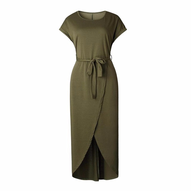Платье длиннего платья лета платья SAKAZY зеленый S фото