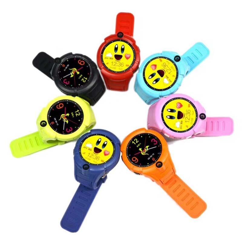 CHIGU Черная русская версия 38мм children baby gps smart watch for kids safe q90 sim wifi touch screen sos call location tracker vibrate anti lost remote f27