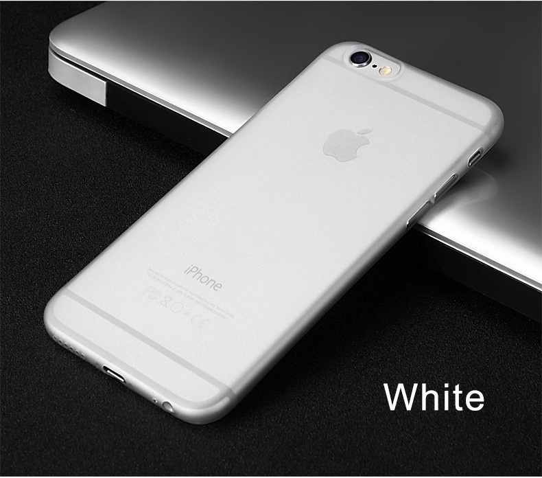 KYKEO Белый iPhone 66s 0 3mm ultra thin matte frosted protective pp back case for iphone 6 plus grey translucent