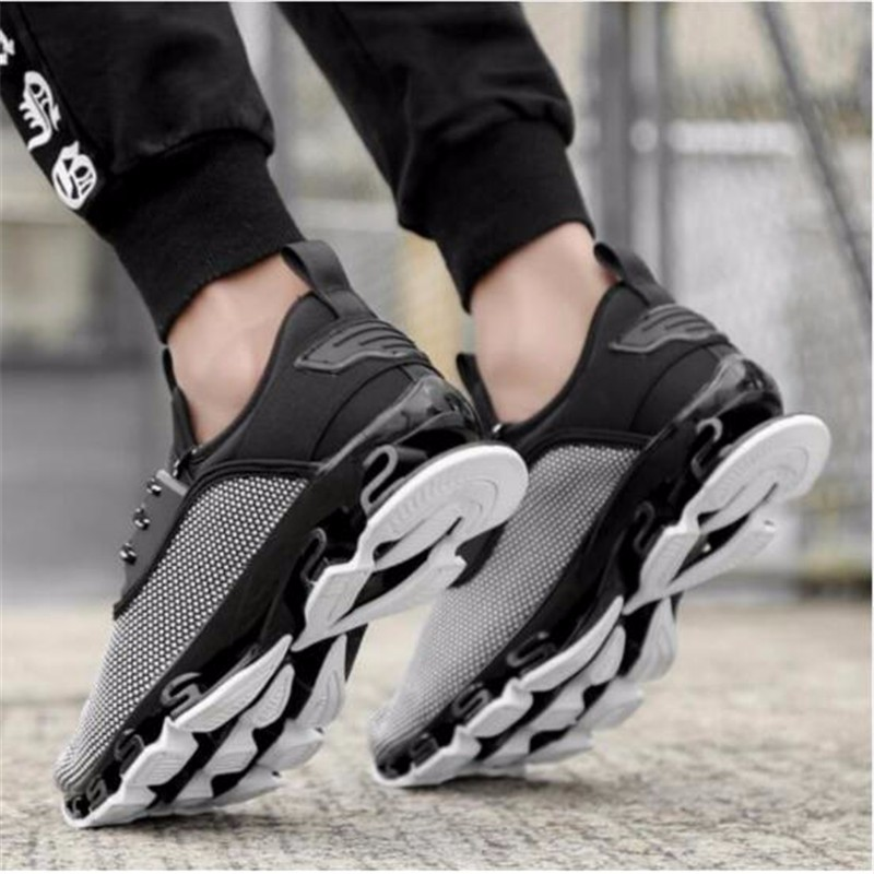 AILOOGE Серый 85 msstor retro women men running shoes man brand summer breathable mesh sport shoes for woman outdoor athletic womens sneakers 46
