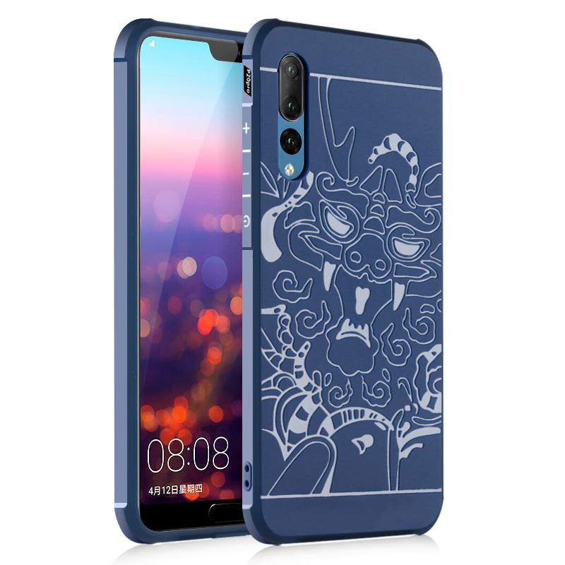 goowiiz Дракон Синий Huawei P20 Pro huawei смартфон huawei p20 pro полночный синий