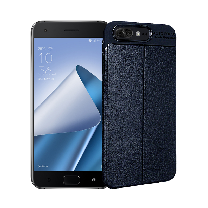 goowiiz Темно-синий ASUS Zenfone 4 Pro ZS551KL durable crazy horse pattern up and down style flip buckle pu leather case for asus zenfone 4 pro 5 5 inch zs551kl