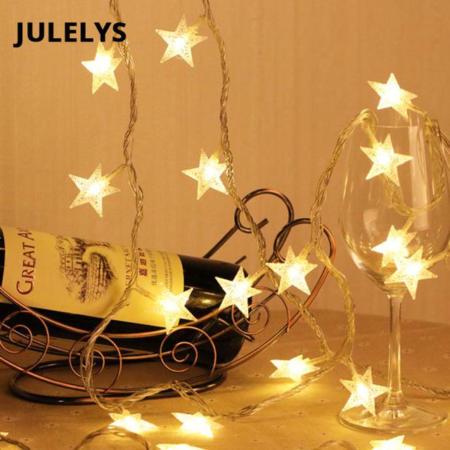 JULELYS Теплый белый Батарея AA 10M 80 лампочек julelys 10m x 2m 640 bulbs led свадебный занавес light outdoor christmas garland string lights украшение для hilday party garden